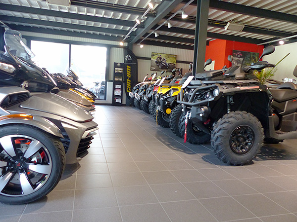 Impressions Mecaconcept Power Products showroom quad