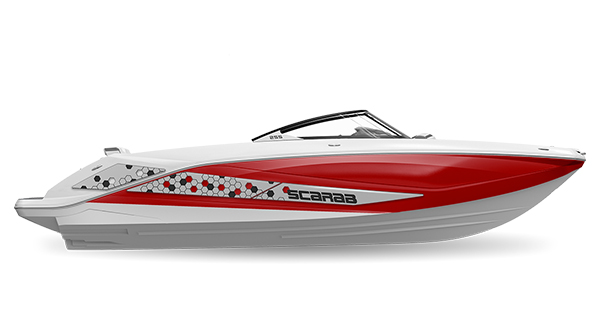 Scarab 255ID Crimson-Red Impact